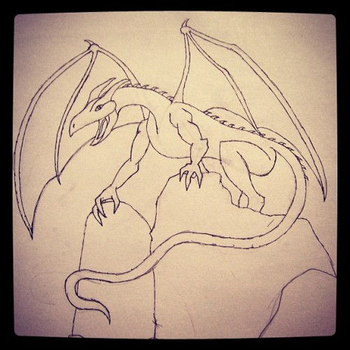 My first attempt at a dragon..I like it :D