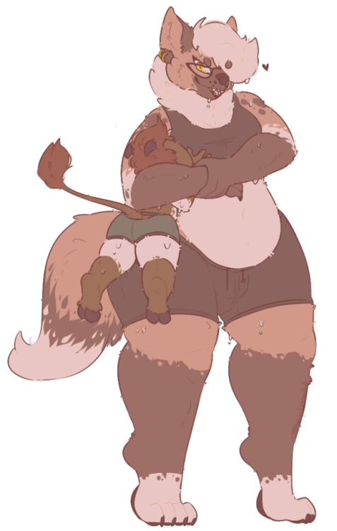 Anthro Furry Hyena Donkey Size Difference My characters Duncan Savannah I love how this turned out and I need more ahhh sweats