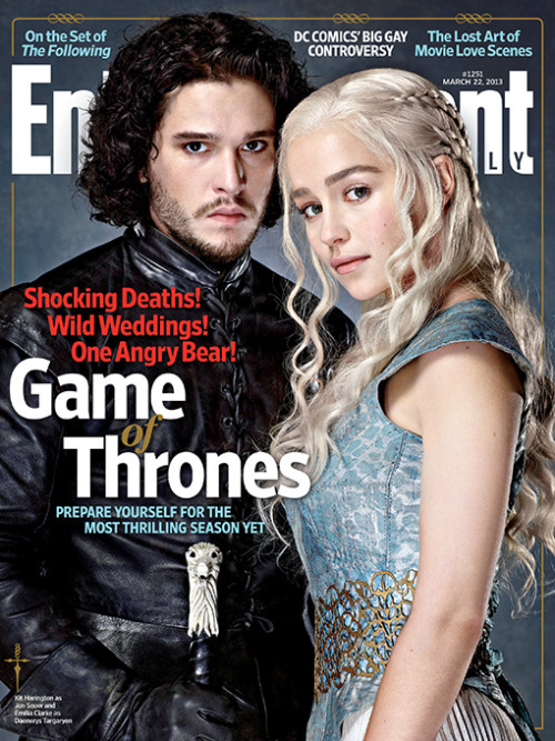 wicnet:  Jon Snow and Daenerys Targaryen grace the cover of this week's issue of Entertainment Weekly.