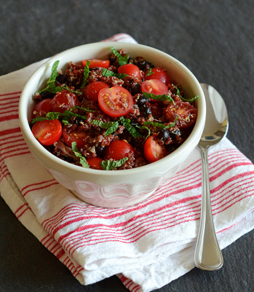 foodopia:  black bean quinoa salad with cherry tomatoes: recipe here