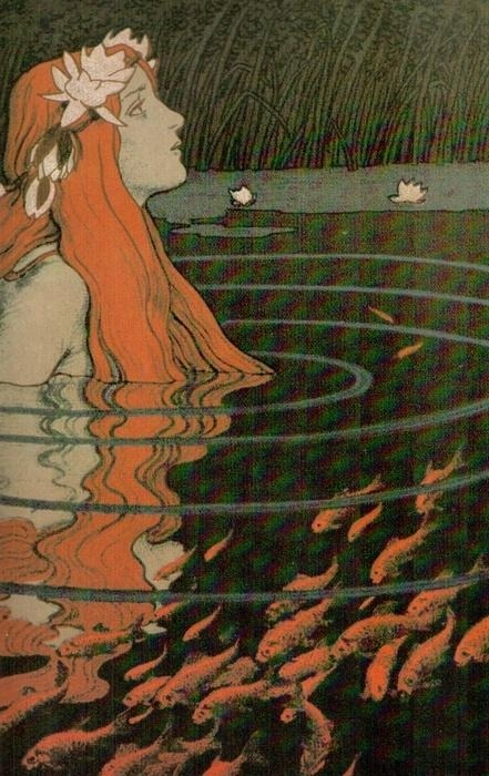 artemisdreaming:  Water Nymph from the Goldfish Pond Franz Hein