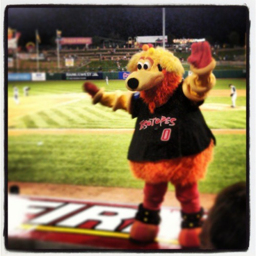 My favorite person #orbit (at Isotopes Park)
