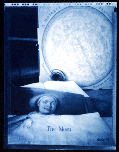 Jesseca FergusonThe Moon, 19985x4 inch pinhole cyanotype This image is in the Panopticon Gallery exhibition: