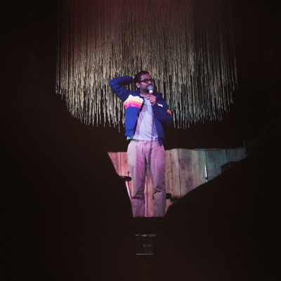 and Aziz Ansari at #bigterrific (at Cameo Gallery)