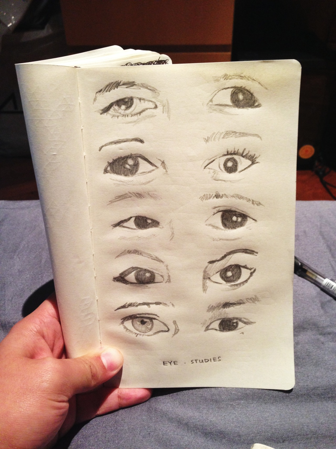 "fuckyeahmoleskines:  ""Eye Studies"" by cyanmoveon (alizdurshoe is just a comedy blog)"