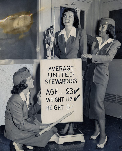 United Airlines stewardesses, 1948