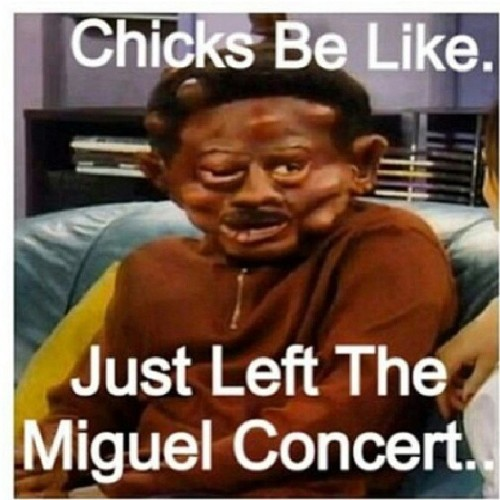 Sorry for what happen to those people at that Miguel concert..but Martin is too funny! Lol