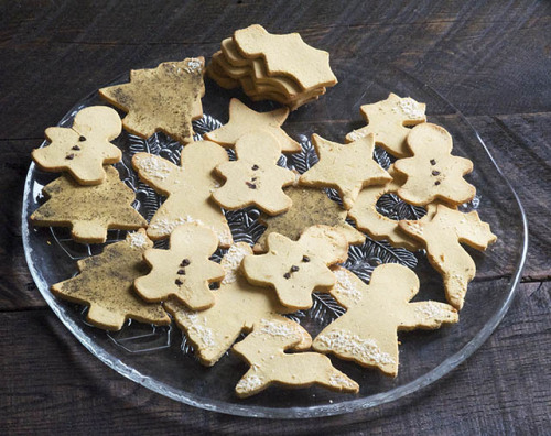 Christmas Cutout Butter Cookies (grain free)