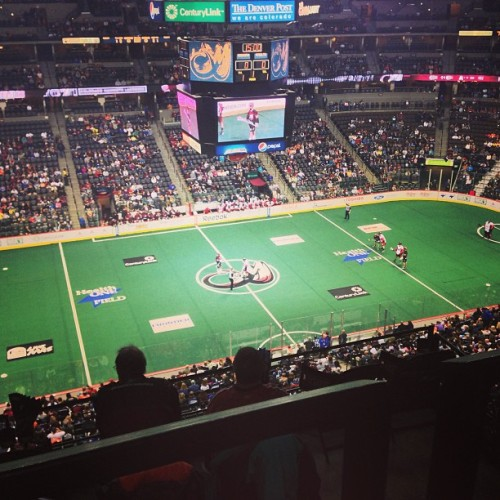 My first lacrosse game. Go #colorado Mammoth!  (at Pepsi Center)