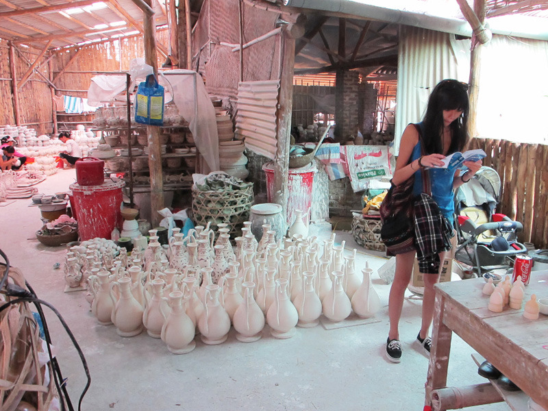 "Sheryo x The Yok go to Vietnam to paint some vases for their ""Pipe Dreams"" Show in NY www.sheryoart.com"