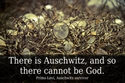 proud-atheist:  There is Auschwitz, and so there cannot be Godhttp://proud-atheist.tumblr.com