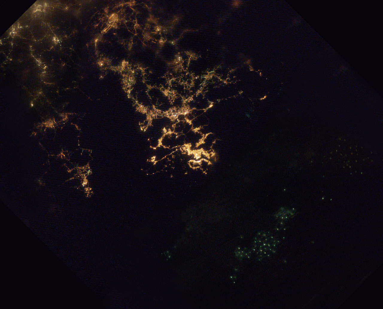 HK by night from space