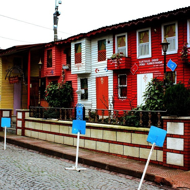 Colorful wooden house in #Istanbul