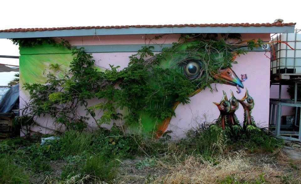 create-tivity:  Street Art by Wild Drawing in Athens, Greece