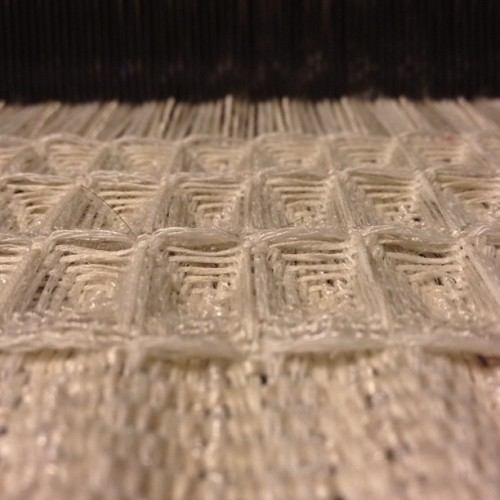Another waffle weave sample on the baby loom! #waffleweave #weaving #naturalfibers