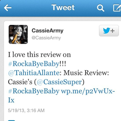 I told y'all I'm back! #blogger #music #cassie #rockabyebaby