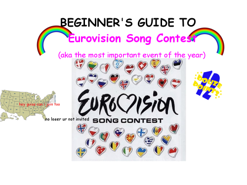 danisnotonfire:   beginner's guide to eurovision song contest  i literally cannot express how accurate and culturally important this is