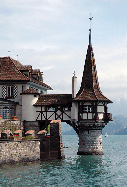 allthingseurope:  Oberhofen am Thunersee, Switzerland (by alainmichot93)