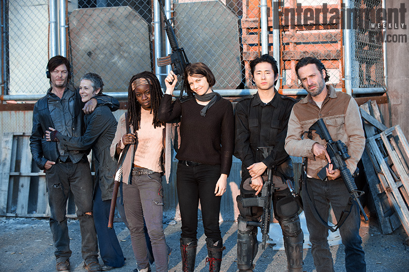 The Walking Dead behind-the-scenes photo of the season finale