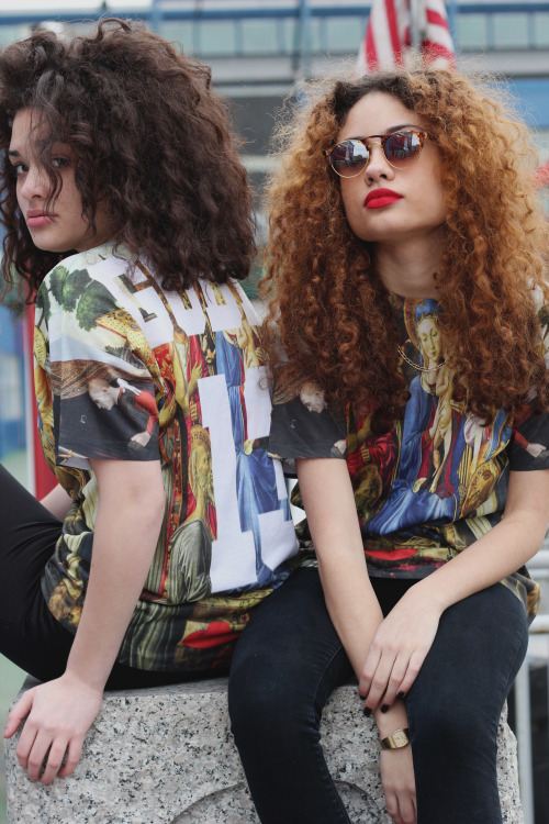 "stadography:  Stada & Brandon present the ""Godly New York S/S 13' Collection"" *RESTOCKED WITH NEW ITEMS*Includes "" 3 New All Over Print Jersey Tee's, ""Virgin Of Madonna, Madonna In Sanctuary & A GodlyxBootleg with Top Half Featuring Givenchy's Rottweiler & Birds Of Paradise & Bottom Half w