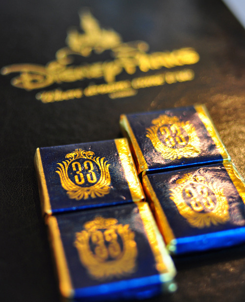 pixiedustbunny:  What I assume to be chocolate mints at Club 33, photo by Isaac Hsieh.