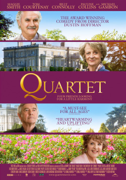 New releases: Quartet releasing 24th January at VOX Cinemas Mall of the Emirates  Stars : Maggie Smith, Michael Gambon and Billy Connolly Genre : Comedy/Drama Director : Dustin Hoffman Trailer link : http://www.youtube.com/watch?v=wSEnh8Hi62E  At a home for retired opera singers, the annual concert to celebrate Verdi's birthday is disrupted by the arrival of Jean, an eternal diva and the former wife of one of the residents.