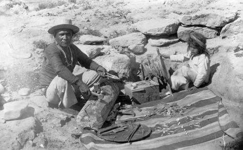 native american outdoors silversmith kid navajo 1880s