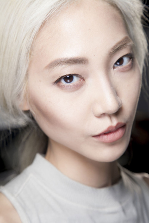 koreanmodel:  Soo Joo at Loewe Fall 2013 Paris.