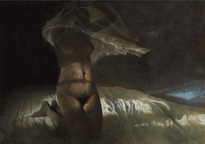 fuckyeahamericanart:  toutpetitlaplanete: Andrew Wyeth - Heat Lighting, 1977