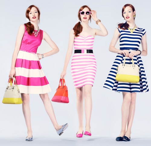 katespadeny:  it's the season for stripes  Love! Love ! Love!