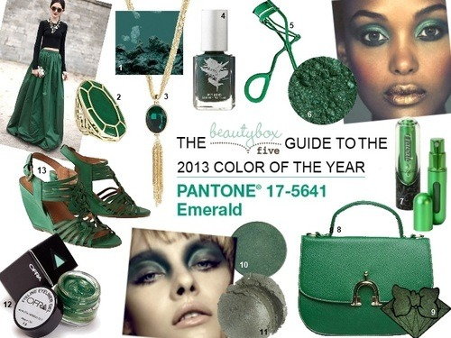 inspirational BB5 guide to the PANTONE® 2013 color of the year, Emerald.