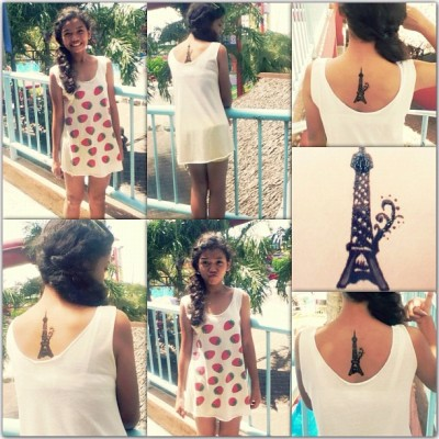 "Homeee from Volet's Resort with batchmates <3 #Henna #EiffelTower ∞ :"">"