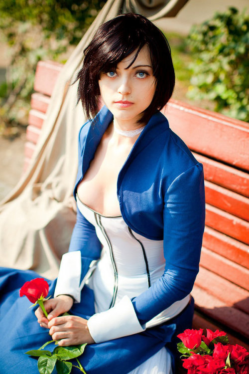 ianbrooks:  Bioshock Infinite: Elizabeth Cosplay by Anna Ormeli I may not be afraid of God, but I'm definitely afraid of how awesome Anna's near-clone-like cosplay of Elizabeth from Bioshock Infinite is, even nailing the same scenes and facial expressions. Really makes you wonder if the creators of the game concocted the character themselves, or if they perhaps had access to a Tear in another dimension and reverse-engineered the appropriately named Anna.  Artist: DeviantArt / Facebook