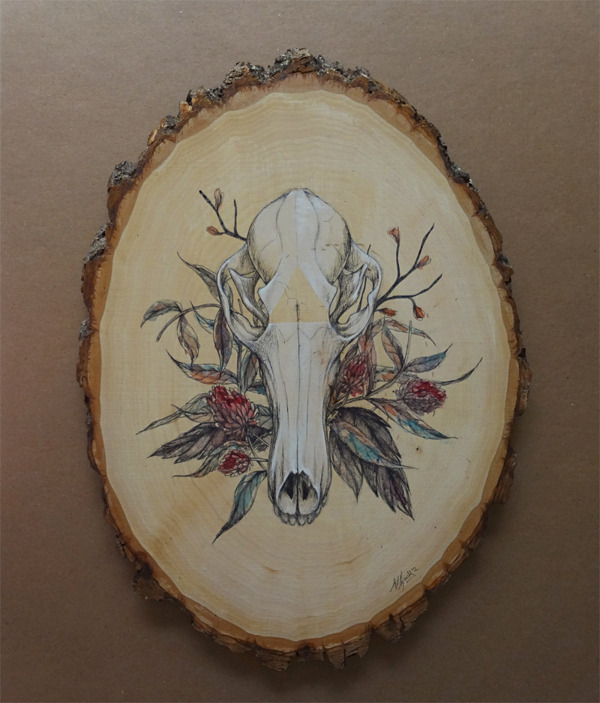 (via Animal Skull Series on Behance)