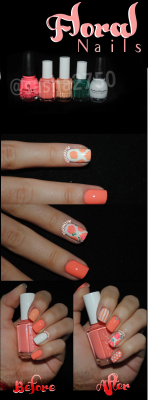 Keep up with the latest trend this spring: Floral Nails - Here is an easy step by step tutorial on how to create the gorgeous design on this guest post on my blog here