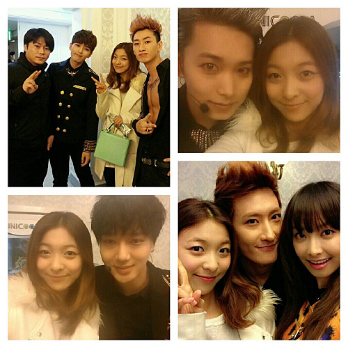 F(x): Victora & Luna with Super Junior - Photos