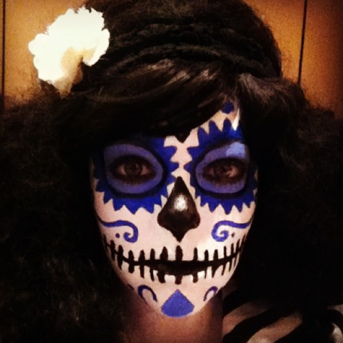 My first attempt at #dayofthedead make up! #sugarskulls #diadelosmuertos #makeup (at DAYS OF THE DEAD @ SHERATON HOTEL)