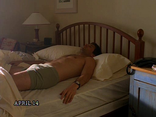 perigilpin:  tactful-cactus:  April 14th- The day Mulder woke up in Scully's bed wearing nothing but his underwear.  #this day in history