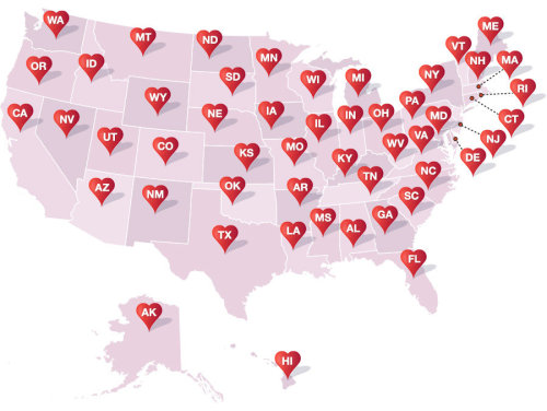 Amazon editors select 50 great American love stories, one for every state. (↬ Page Turner)