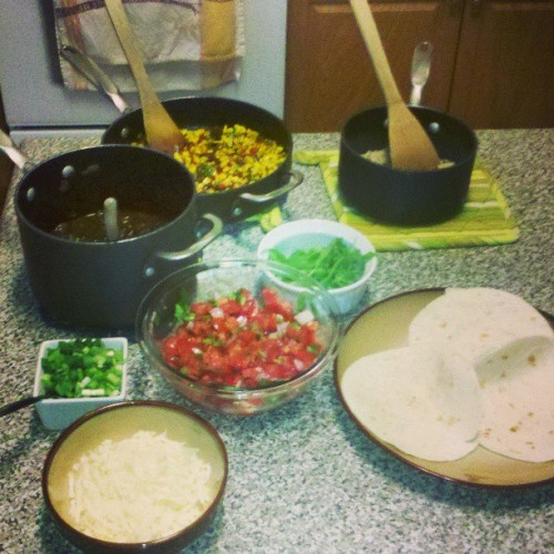 Vegetarian taco bar. #vegetarian (at The Snark Nation)