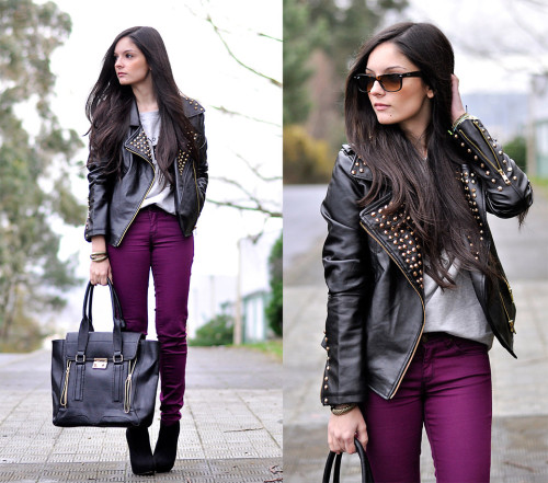 lookbookdotnu:  Studded Biker… (by Alba .)