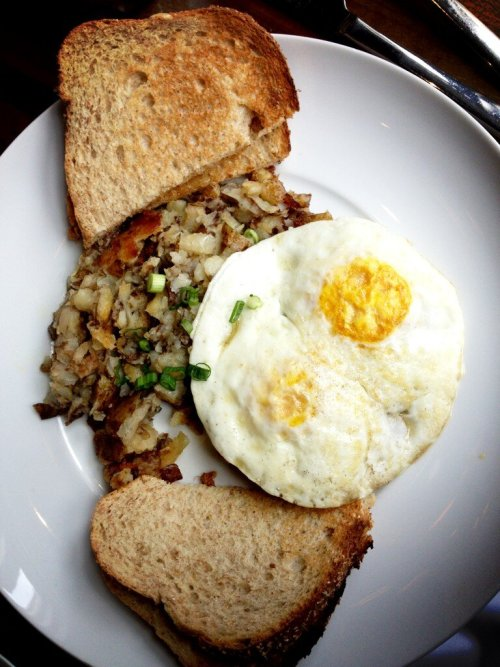 Duck confit scrapple for brunch at Sixth Engine