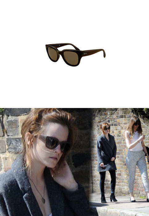 Emma wore a pair of Ray-Ban RB4178 Sunglasses while out in London.Ray-Ban RB4178 Sunglasses - $145.00Wore with: Rag & Bone Lovell Platform Booties & Martin Grant Leather Belt Coat & Genetic Denim Shya Cigarette Jeans
