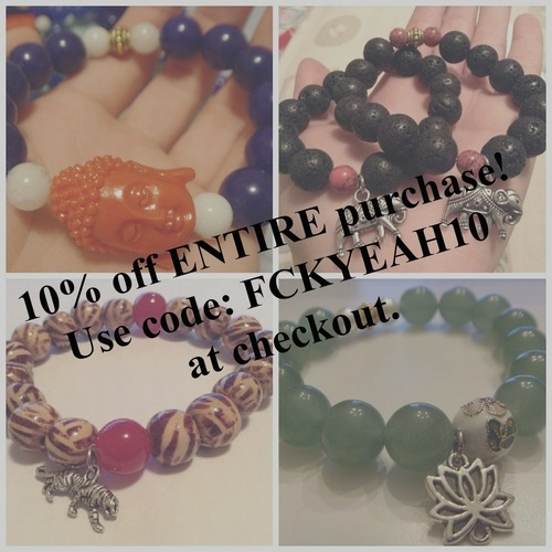 Final Two days! Receive 10% off of your purchase when you use the code: FCKYEAH10 at checkout :)
