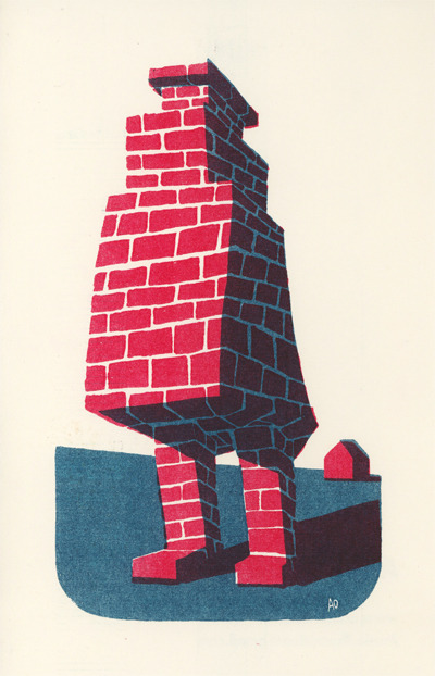 handed out a bunch of these Brick Golem prints at TCAF.