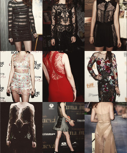 Kristen Stewart in see through dresses