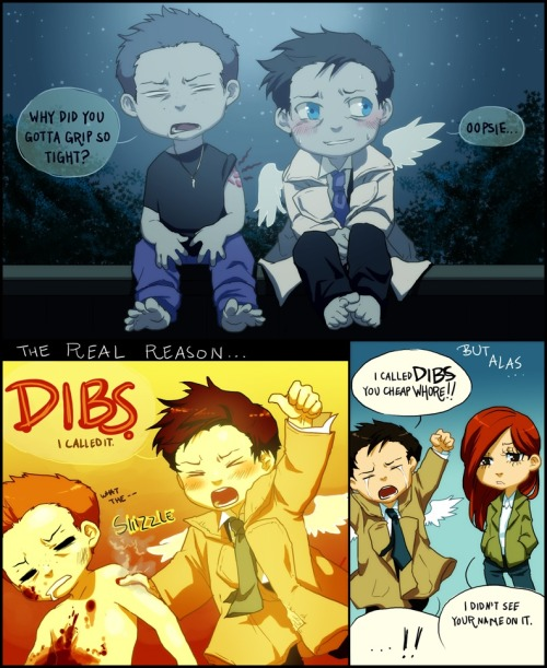 n0t-a2-hiip2ter-a2-me:  Castiel did call dibs. Respect the dibs