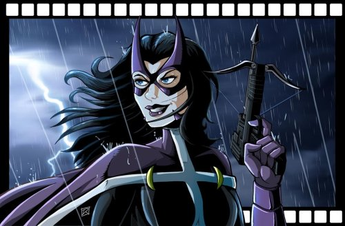 timetravelandrocketpoweredapes:  Huntress gift art by MachSabre