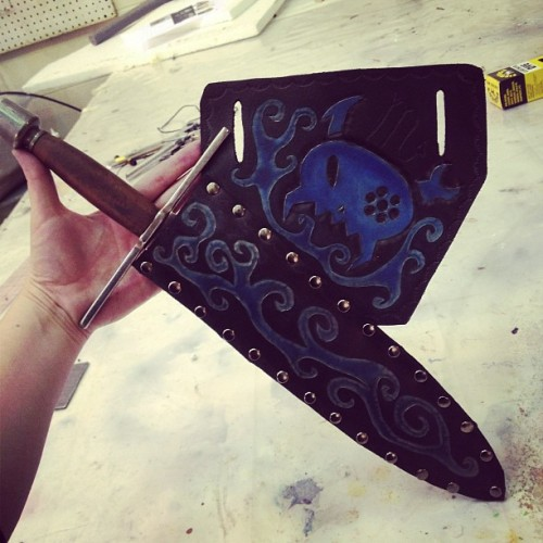 Boom. #homestuck #mindfang #cosplay #homestuckcosplay #vriska #leatherwork