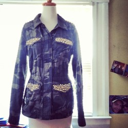 custom studded jacket for @shezrotn
